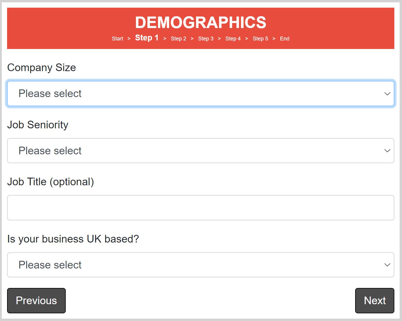 demographics page
