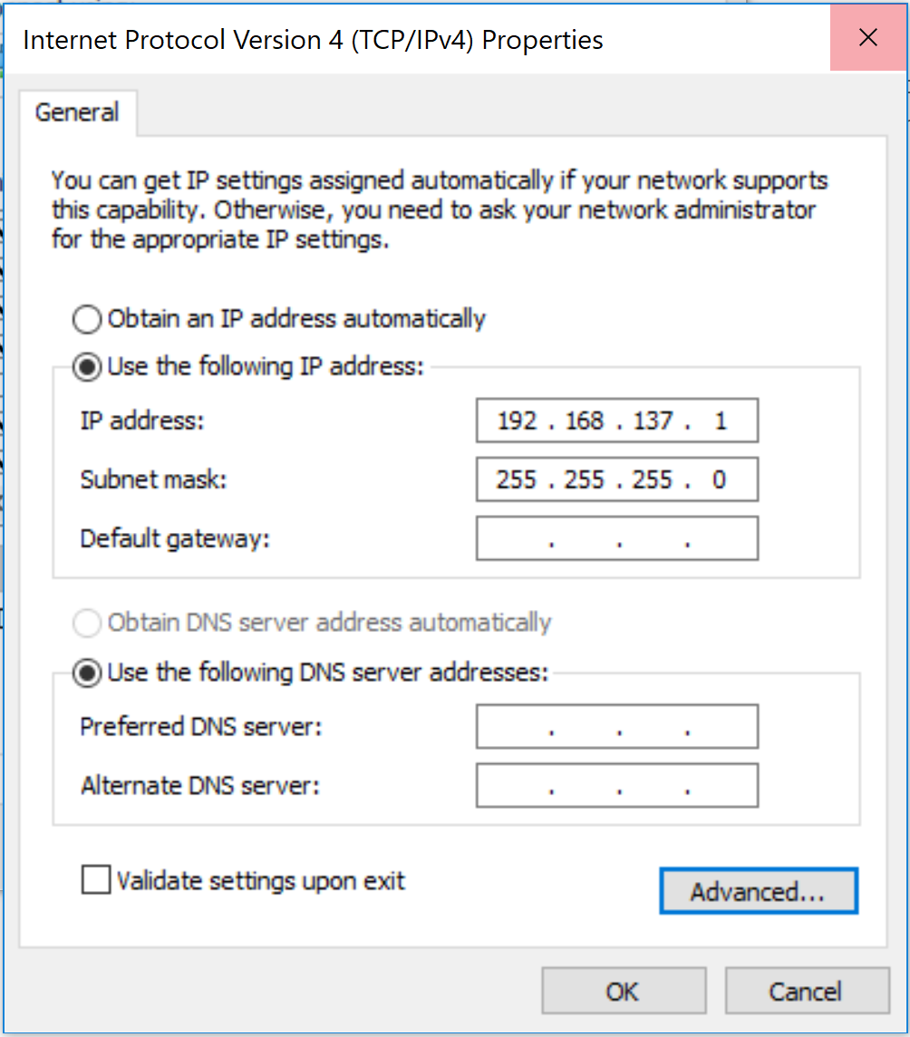 virtual network setup